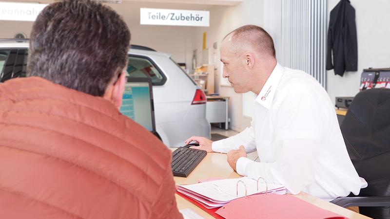 Fahrzeughandel zwischen 2 Personen